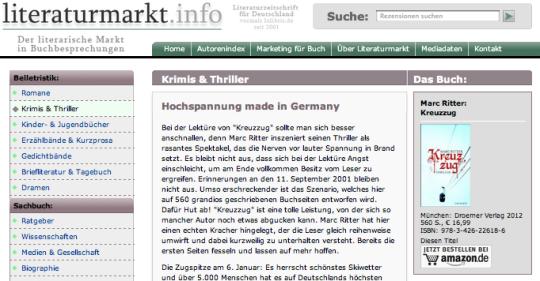 Literaturmarkt.info Marc Ritter Kreuzzug