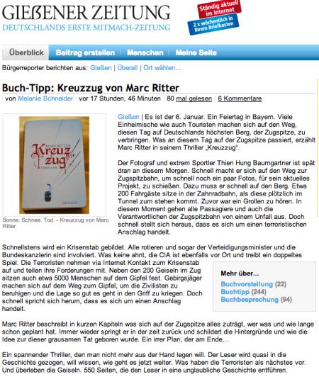 Marc Ritter Kreuzzug Gießener Zeitung