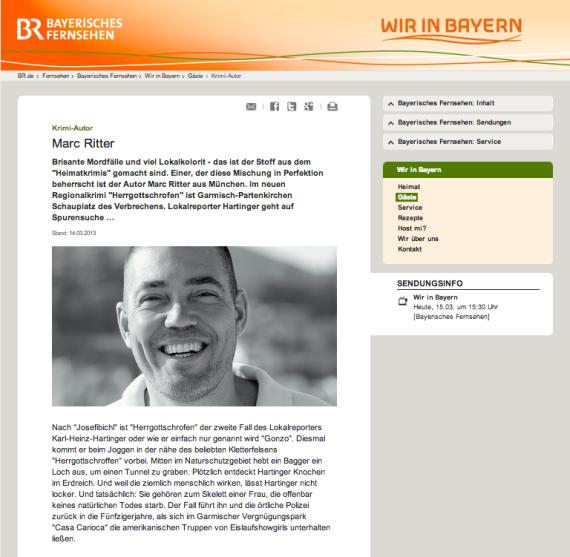 Marc Ritter - Bayerisches Fernsehe - Wir in Bayern