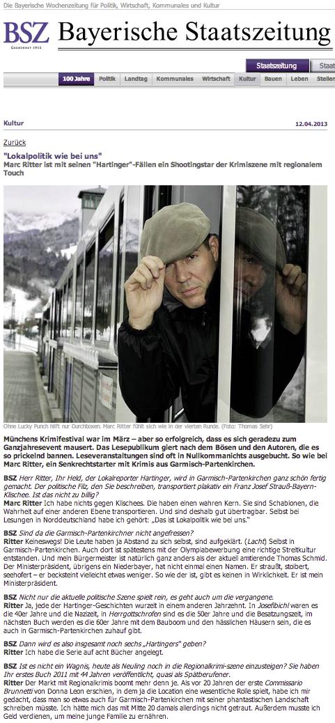 Bayerische Staatszeitung - Herrgottschrofen - Marc Ritter