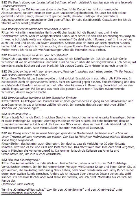 Bayerische Staatszeitung - Marc Ritter - Herrgottschrofen